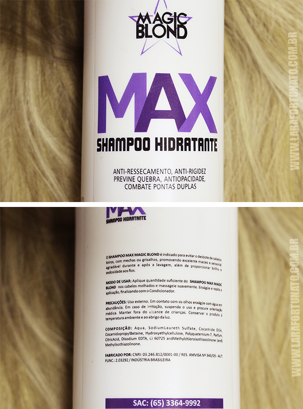 Shampoo Hidratante Max MAGIC BLOND2